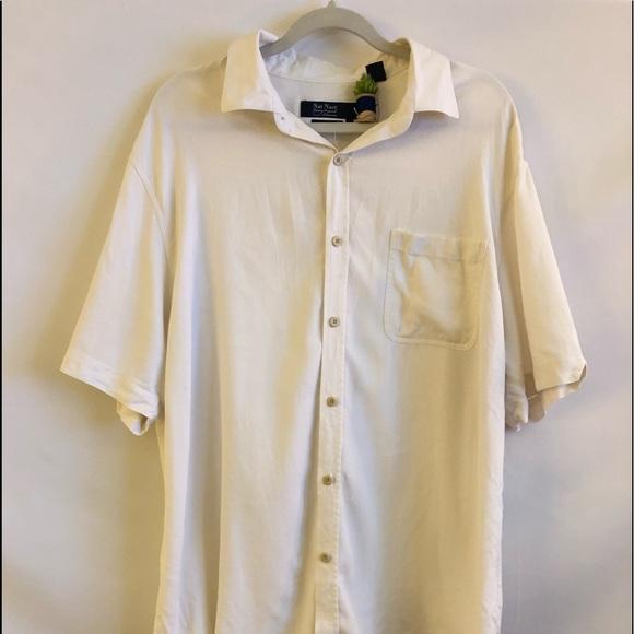 f9d50f5e6bdb17 Nat Nast Shirts   Silk Shirt Sz Xl In Off White   Poshmark